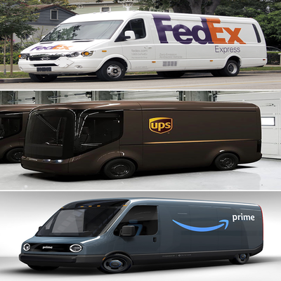 Who's Got the Best-Looking Electric Delivery Van Design: Amazon, FedEx or UPS? - Core77