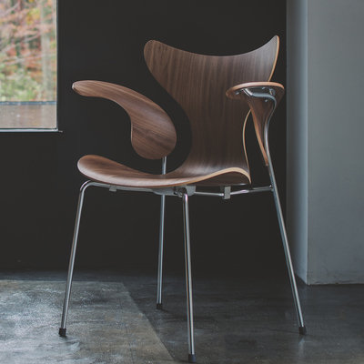 Fritz Hansen Releasing 50th Anniversary Edition of Arne Jacobsen's Last Chair Design, the Lily - Core77