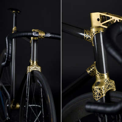 3D-Printed Bike Porn: Ralf Holleis's Carbon Fiber VRZ 2 Track with Titanium Lugs and Dropouts