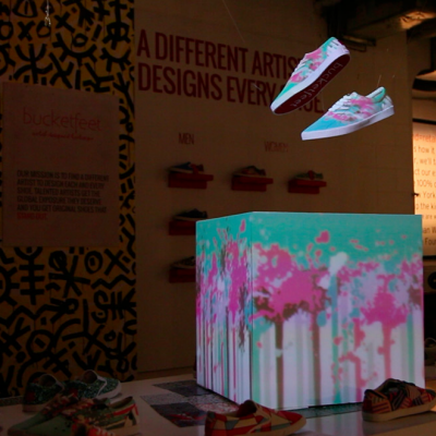 Illuminimal / Illumifeet: Footwear Projection Mapping by Craig Winslow