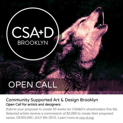 Community-Supported Art & Design to Launch in Brooklyn this Fall