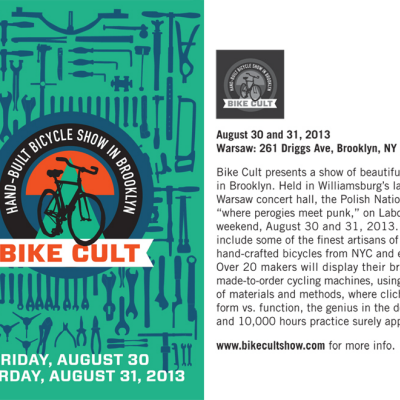 Save the Date: The First Annual Bike Cult Show to Take Place in Brooklyn from August 30 - September 1, 2013