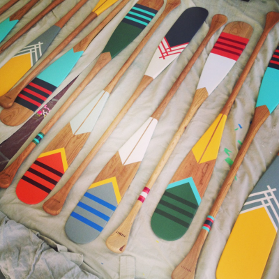 'Canoe' Dig These Handpainted Paddles by Northern Newcomers Norquay?