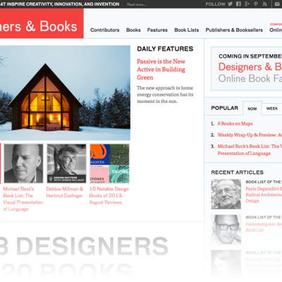 Check Out the New Look 'Designers & Books' Website