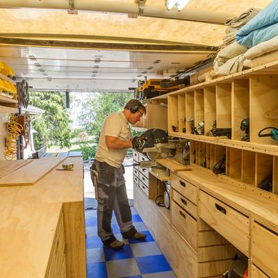 Cube Van Camper Conversion >> Woodshop on Wheels: Ron Paulk on the Design of His Mobile Woodshop, Part 1 - Core77