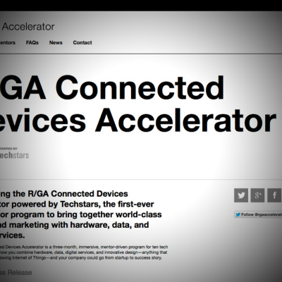 R/GA & Techstars Team Up for 'Connected Devices' Accelerator