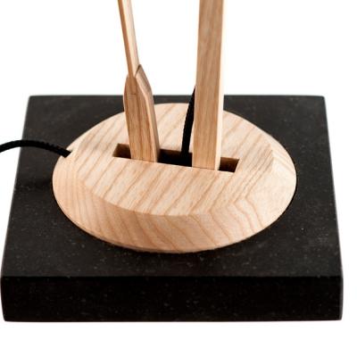 In the Details: The Cantilever Arms of James Smith's Wooden Task Lamp