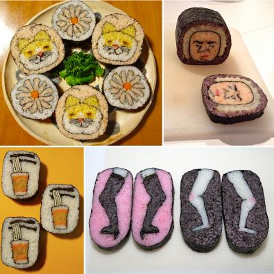 "Credit Where Credit is Due: Creator of These Amazing Sushi Roll ""Drawings"" is a Female Illustrator, Not a Male Sushi Chef"