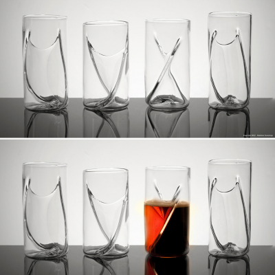 The Pretentious Beer Glass Company's Dual Beer Glass