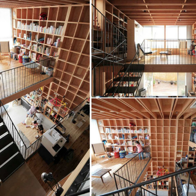 Kiyoshi Kasai's Awesome 'Wooden Box 212' Construction Method: Low-Waste, Pillar-Free, Multistory, Seismically-Resistant Open-Plan Living