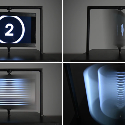 Benjamin Muzzin's Clever 3D Display, Created by Spinning TVs