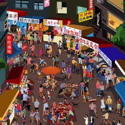 ODLCO Presents 'Marketplace Posters' by Jingyao Guo: Wonderful Where's Waldo-esque Wall Art Offers a Window into Worldwide Markets
