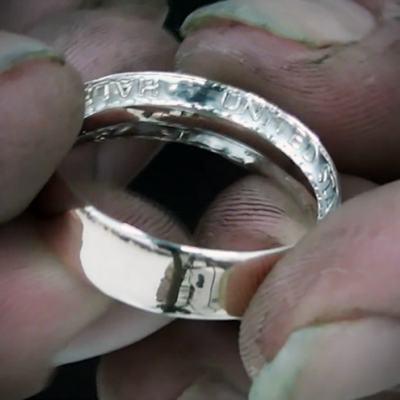 Using the Hell Out of a Corded Drill: How to Make a Ring Out of a Coin, When Safety is of No Concern