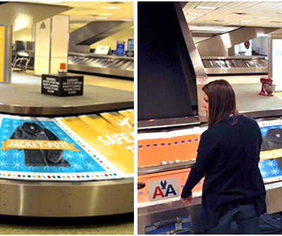 Zappos Turns Baggage Claim Carousel Into Wheel of Fortune