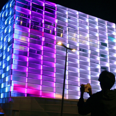 Watch an Entire Building Get Turned into an Interactive Rubik's Cube