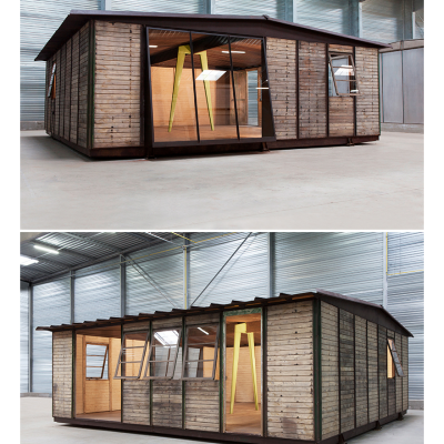 Time-Lapse Video of Jean Prouve's Flat-Pack Maison Demontable Being Constructed