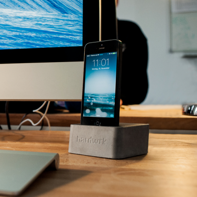 There's a Very Good Reason Why This iPhone Dock is Made Out of Concrete