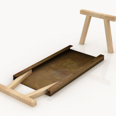 Perfect Design for a Flatpack Trestle Table: Gumdesign's Mastro
