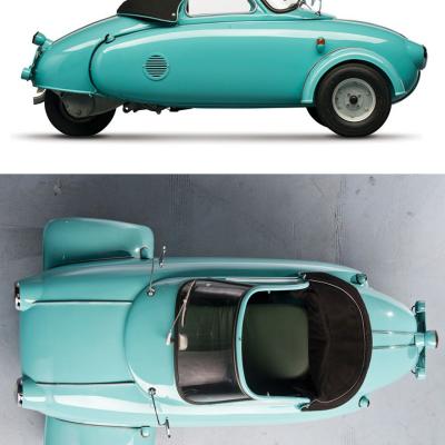 Carl Jurisch's 1957 Motoplan Concept: Personal Transportation Via Self-Propelled Sidecar
