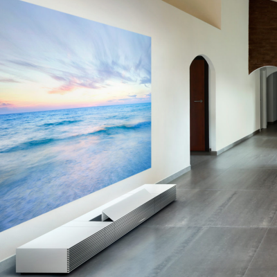 Sony's Gorgeous, Floor-Borne Short-Throw Projector Channels Classic Braun Design