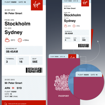 Peter Smart's Better Boarding Pass Redesign