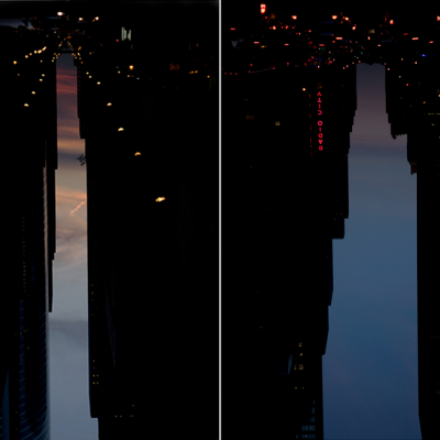 Manhattanhenge Meets Magritte in Peter Wegner's Inverted Cityscapes