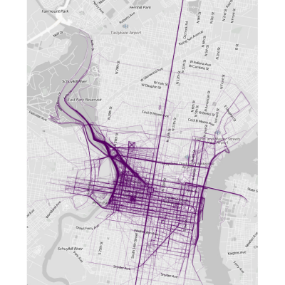 Data Visualization Site's Running Route City Maps Look Like Prismacolor ID Sketches