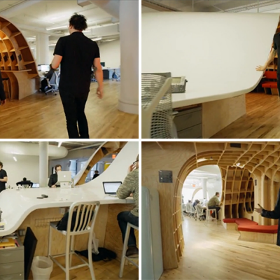 Barbarians at the Great: An Undulating 4,400-Square-Foot Superdesk