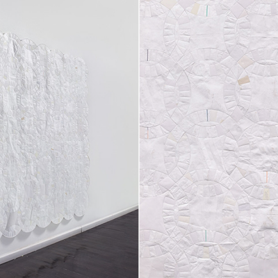 Holy Papercuts: Stephen Sollins' Tyvek Patchwork Quilts