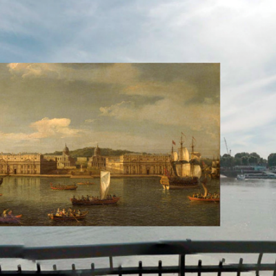 A Photographic History of London's Architecture Superimposed with Old Paintings of the Same Scene