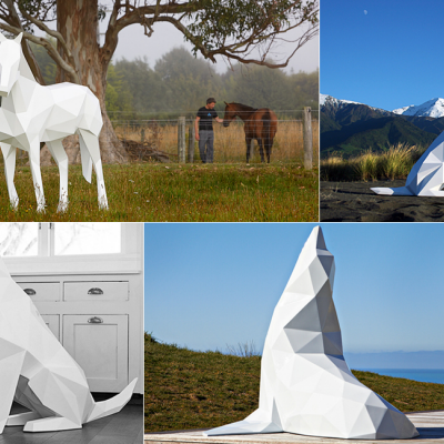 Ben Foster's Angular Animals Show Off Clean Color Palettes and Breathtaking New Zealand Views