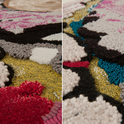 In the Details: Chen Chen and Kai Williams's Colorful Rug Collection, Inspired by Cold Cuts