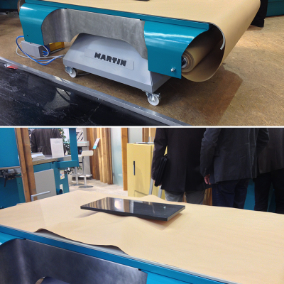 Martin's Brilliant Spray Table for Masking-Free Varnishing