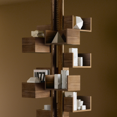 "Poltrona Frau Recreates the Iconic ""Albero"" Bookcase For a New Generation to Enjoy"