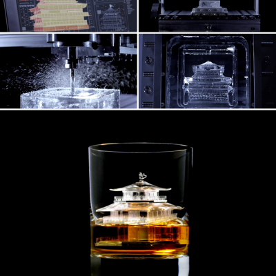 CNC-Milled Whiskey on the Rocks