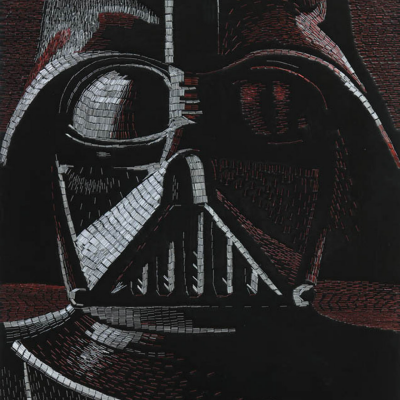 How Many Staples Does it Take to Turn Star Wars Characters into Mosaics? (At Least 10,496)