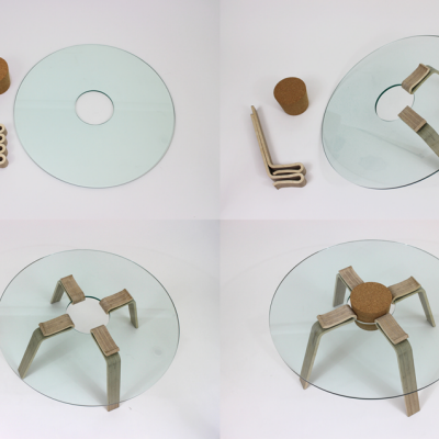 Skip the Tools: This Cork Stopper Table Can Be Assembled in Less Than a Minute