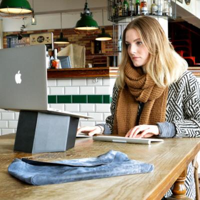 The Pillar: A Sruli-Recht-Designed Portable, Collapsible, Lightweight Laptop Stand