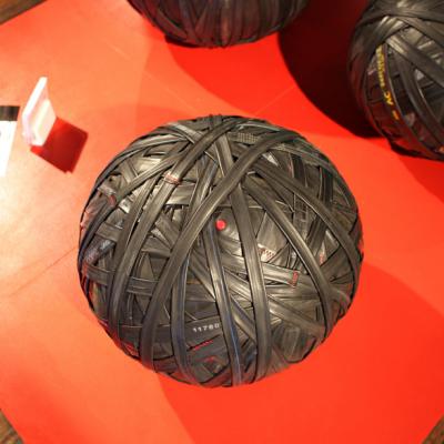 NY Design Week 2014: CYQL Brings Busted Bike Tubes Bouncing Back to Life at WantedDesign
