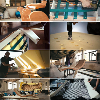 See How Upholstered Furniture Comes Together: Bed, Sofa, Chaise