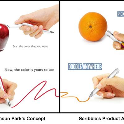 The Scribble Pen: Scans Colors, then Reproduces Them