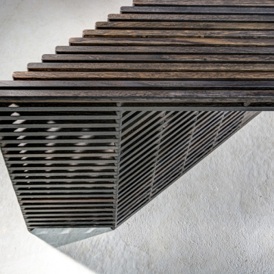 In the Details: Ian Stell's Pantograph-Inspired Pivoting Tables
