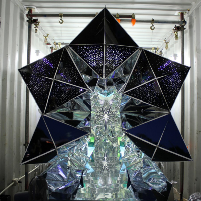 Another Use for Shipping Containers: The Room-Sized Kaleidoscope That's Held Together with Zippers