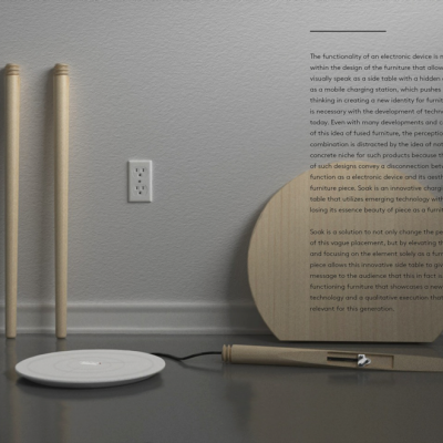 Core77 Design Awards Spotlight: SOAK Charging Side Table