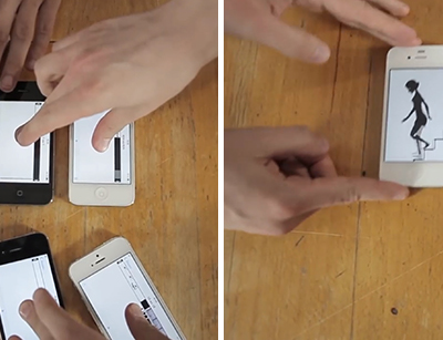 Animated Music Video that Moves Across iDevices