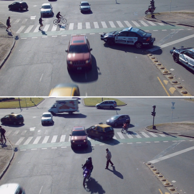 What Would Self-Driving Cars Navigating No-Stoplight Traffic Look Like at Speed?