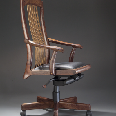 "Erickson Woodworking's Niobrara, a Bespoke Office Chair That's ""Tailor-Fit Like a Suit"""