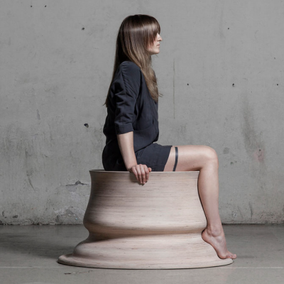 Embracing Touch: Designer Shapes Stools in Her (Legs') Own Image