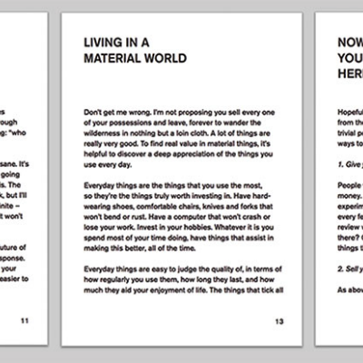 YOU HAVE TOO MUCH SHIT: Designer Writes Self Help Book Rallying Against Excessive Consumerism