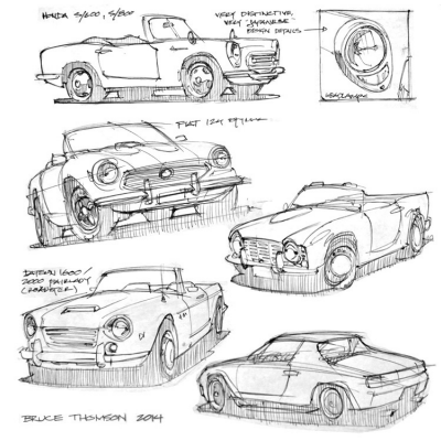 This is How a Sketch-Happy Industrial Designer Shops for a Vintage Car